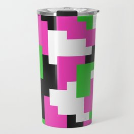 Girl Boss neon color blocks Travel Mug