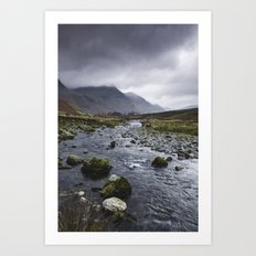 Rain clouds. Gatesgarth, Cumbria, UK. Art Print