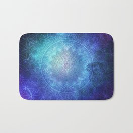 Abstract Flower of life Space Tapestry Bath Mat