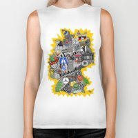 mercedes Biker Tanks featuring Germany Doodle by Rebecca Bear