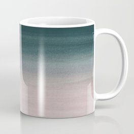 Touching Teal Blush Watercolor Abstract #1 #painting #decor #art #society6 Coffee Mug