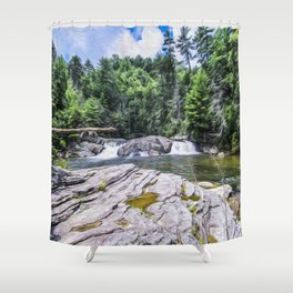 Lower Fall View Shower Curtain
