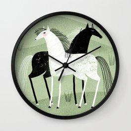 PRAIRIE FRIENDS GREEN Wall Clock