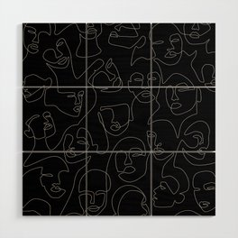 Face Lace Wood Wall Art
