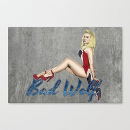 Blonde in a Union Jack...A specific one Canvas Print