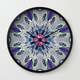 Sophisticated Floral Abstract Wall Clock
