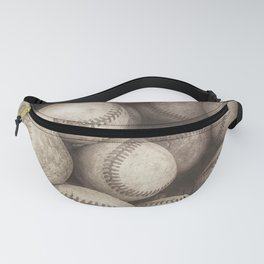 Bucket of Old Baseballs in Sepia Fanny Pack