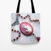 agate Tote Bags featuring agate,agate cameo,gemstone by ira gora
