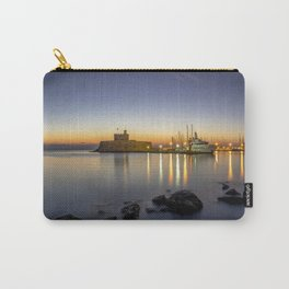 Mandraki harbour of Rhodes Greece at sunrise Carry-All Pouch