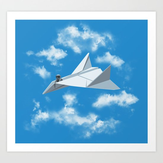 Paper Airplane Art Print