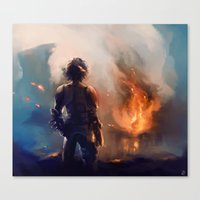 how to train your dragon Canvas Prints featuring how to train your dragon 2 by AkiMao
