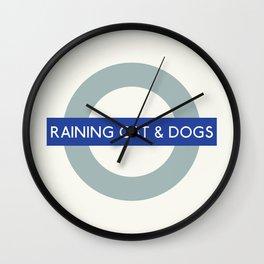 Raining Cats & Dogs   TFL Wall Clock