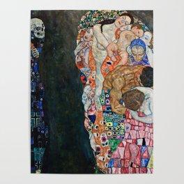 Gustav Klimt - Death And Life Poster