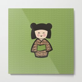 Geisha Dress Code (green) Metal Print