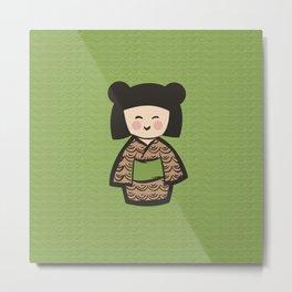 Geisha Dress Code (green) Metal Print