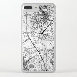 Mapping it out Clear iPhone Case