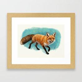 Fox walk Framed Art Print