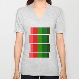 Christmas color bar Unisex V-Neck