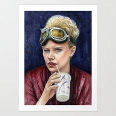 Holtzmann Ghostbusters Portrait Art Print