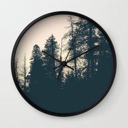 Orange Sherbert Skies | Mountainside Morning Wall Clock