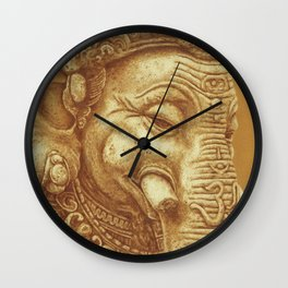 Ganesha orange Wall Clock