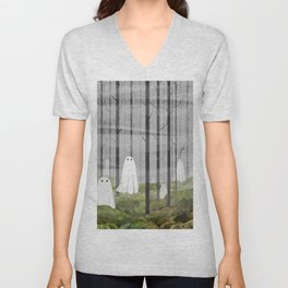 The Woods are full of Ghosts Unisex V-Neck