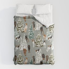 Coonhound Forest Green Comforters