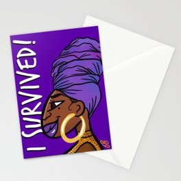 I Survived! PURPLE! Stationery Cards