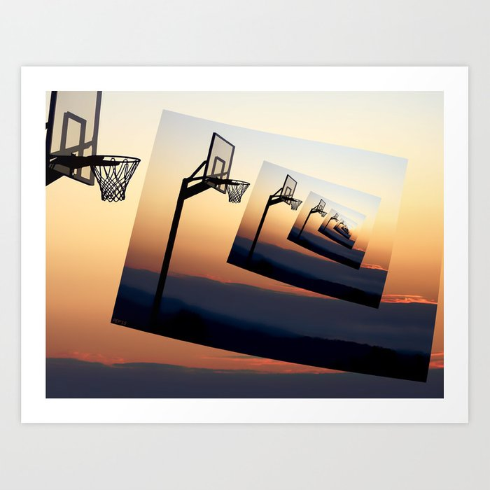 Basketball Hoop Silhouette Art Print
