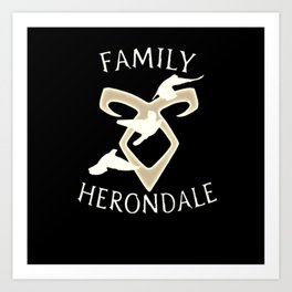 family herondale Art Print