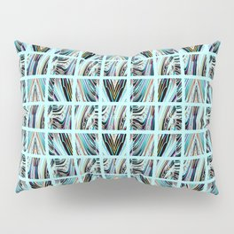 Aqua Grid Pillow Sham