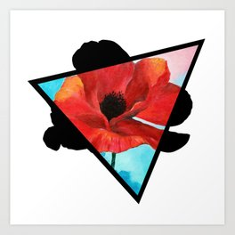 Poppy Dreams Triangle Art Print