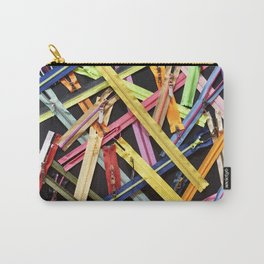 Zippers for clothes on black Carry-All Pouch