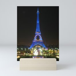Scenic Eiffel Tower at Night Mini Art Print