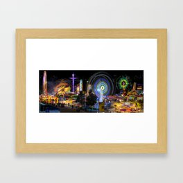 Fairground Attraction panorama Framed Art Print