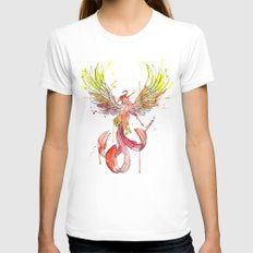 Phoenix White MEDIUM Womens Fitted Tee