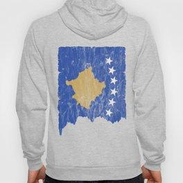 Kosovo flag used look vintage Hoody