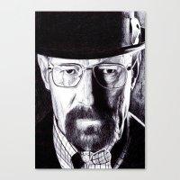 heisenberg Canvas Prints featuring Heisenberg  by DeMoose_Art