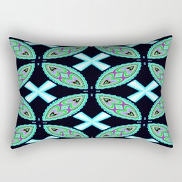 Tribal Heart To Heart Abstract Pattern  Rectangular Pillow