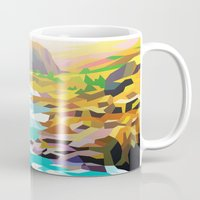 river Mugs featuring River by Liam Brazier