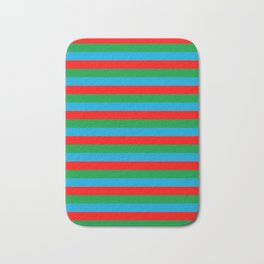 Azerbaijan flag stripes Bath Mat