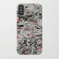 The Flaw Advantage (P/D3 Glitch Collage Studies) iPhone X Slim Case