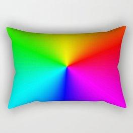Rainbow Color Wheel Rectangular Pillow