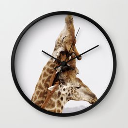 Giraffe Totem Pole Wall Clock