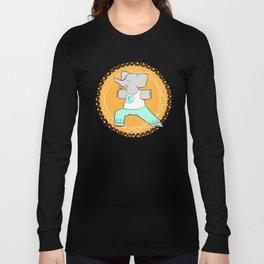 Yoga elephant - warrior pose Long Sleeve T-shirt