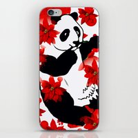 red panda iPhone & iPod Skins featuring Panda by Saundra Myles