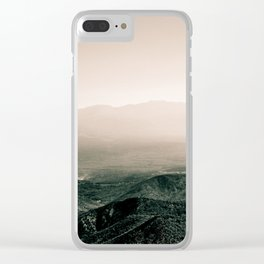 blushed mountains Clear iPhone Case