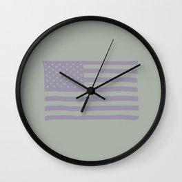 American Flag on Vernon Wall Clock