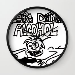 let's drink alcohol Wall Clock