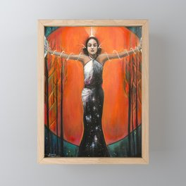 Strength - Tarot Card Art Framed Mini Art Print